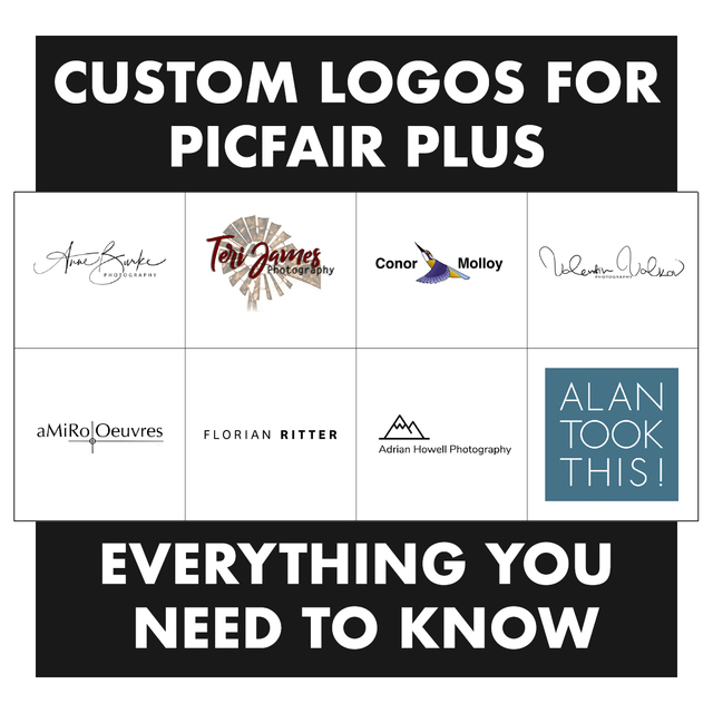 Custom logos for picfair plus 2