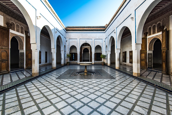 Standard picfair 06323165 beautiful courtyard in bahia palace morocco 1120u preview only
