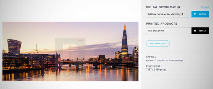 Standard blog purchase a print screenshot 2